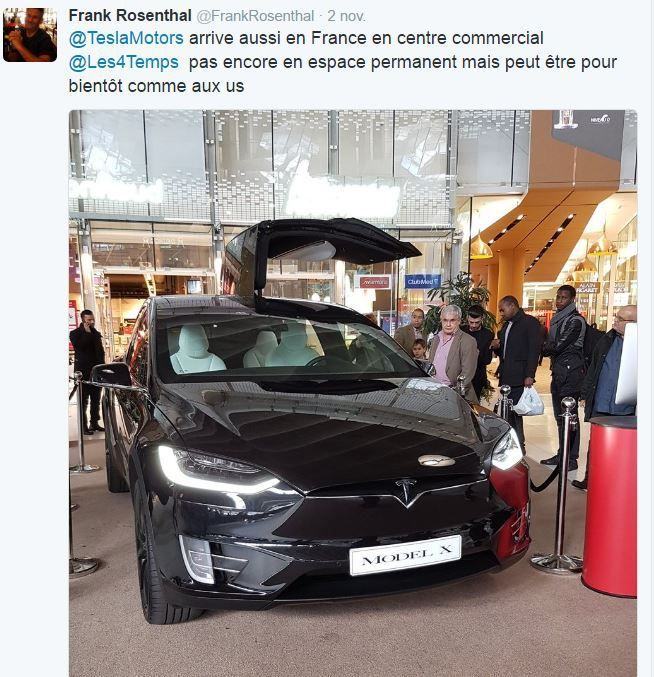 Retail Tweets (2) : Tesla s'invite au centre commercial 4 Temps/CNIT