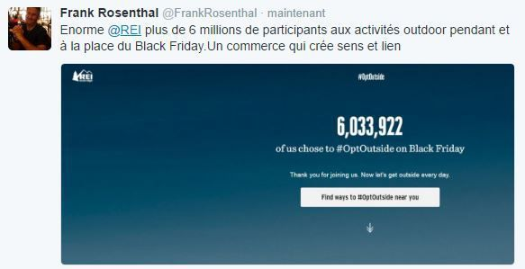 Retail Tweets n°5 : le bilan de REI pour le Black Friday