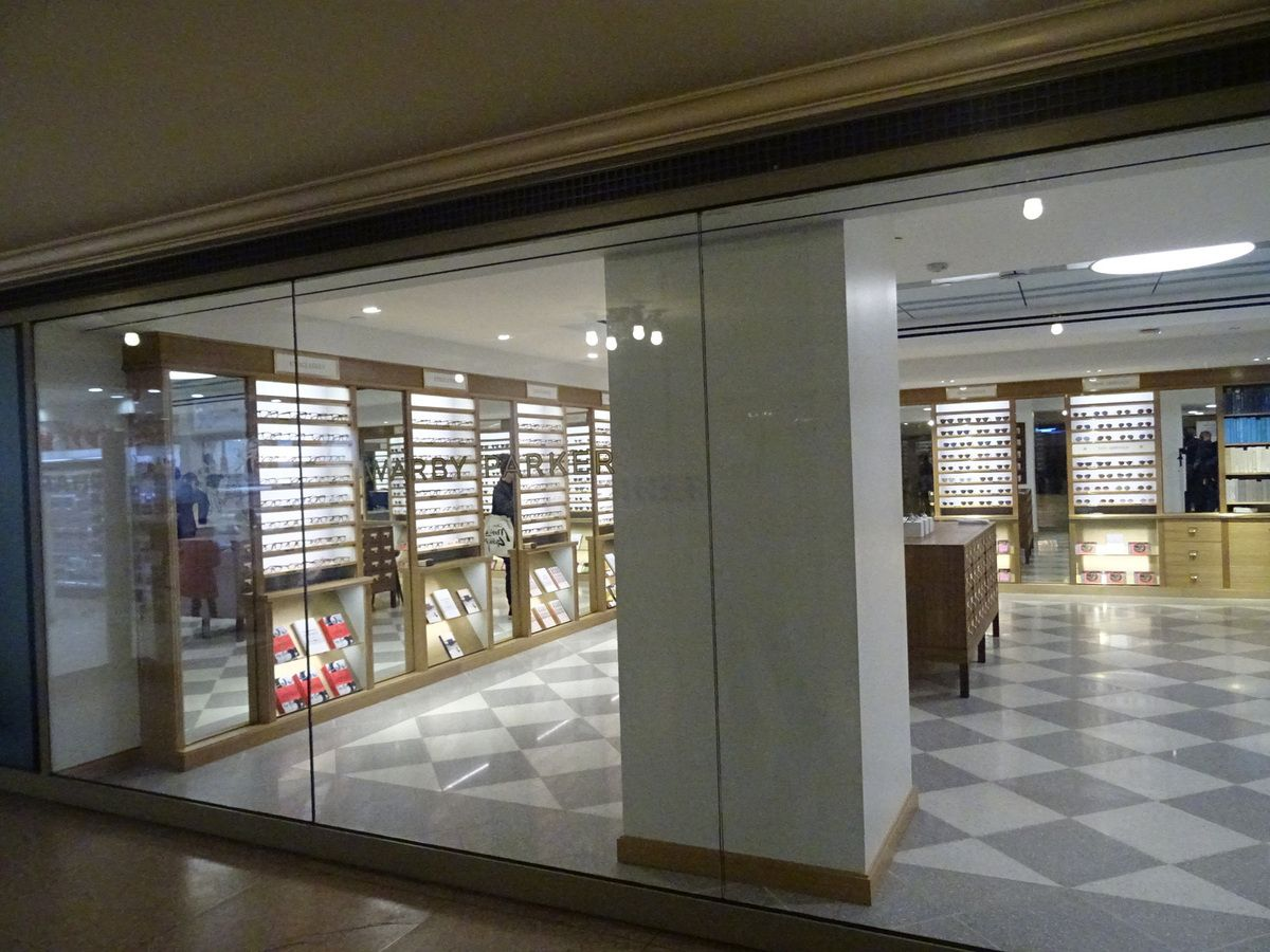 Le magasin Warby Parker à Grand Central Station