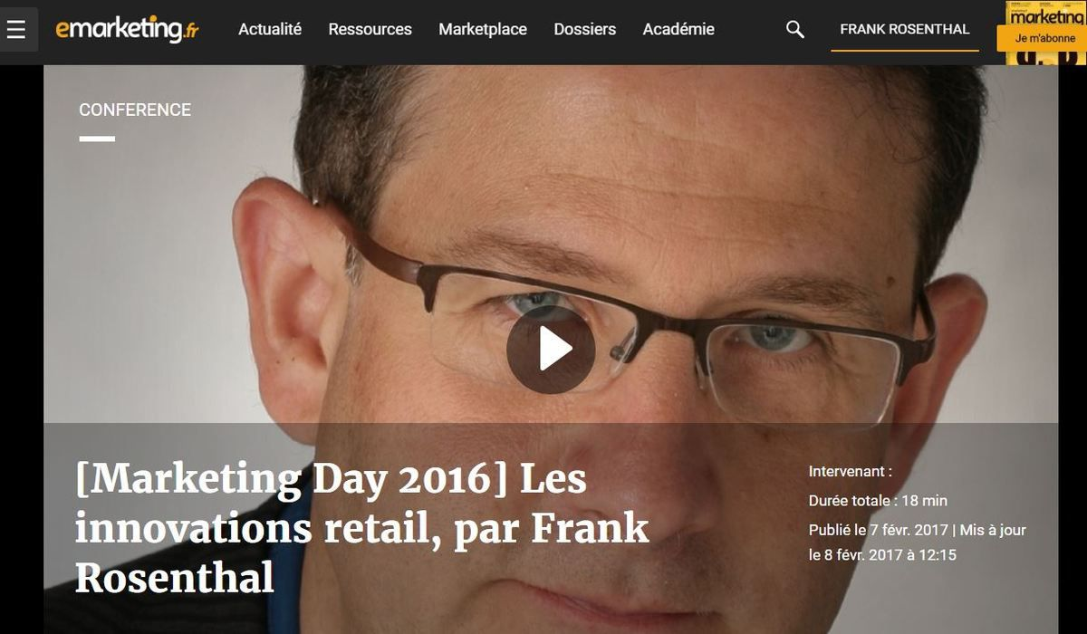 Marketing Day 2016 : ma keynote sur les innovations concepts retail