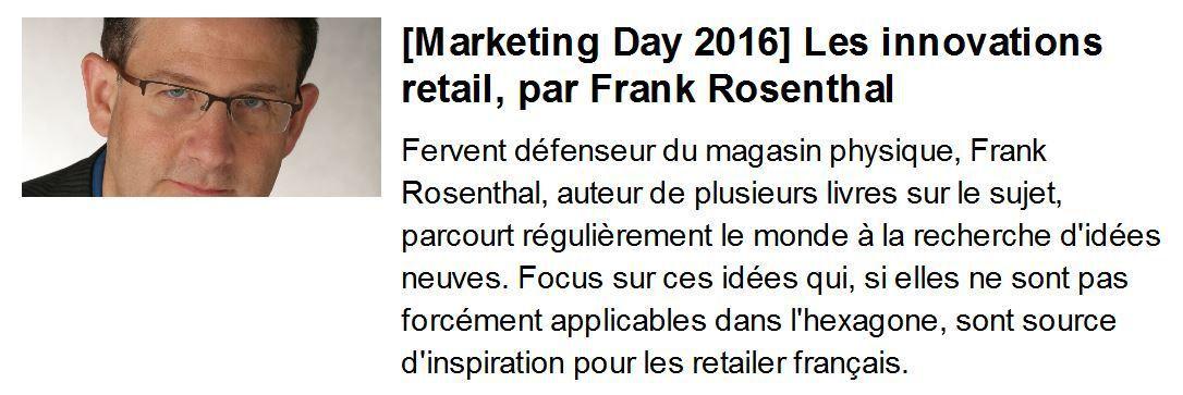 Marketing Day 2016 : ma keynote sur les innovations concepts retail