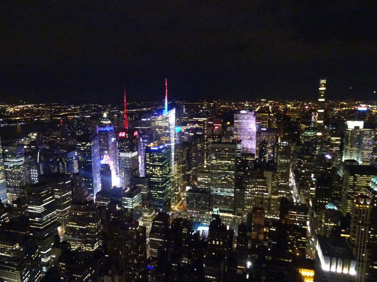 Vue sur Times Square de l'Empire