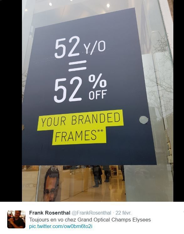 Retail Tweets 19 : Grand Optical la promo dans toutes les langues