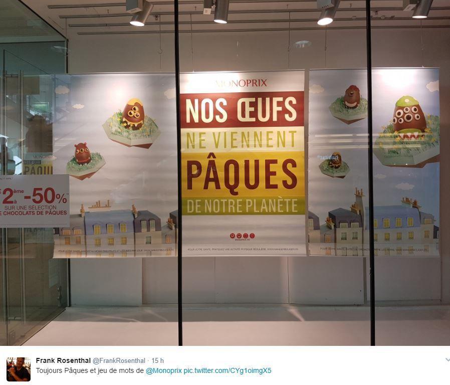 Retail Tweets 23 : Monoprix et Pâques : jeu de mots !