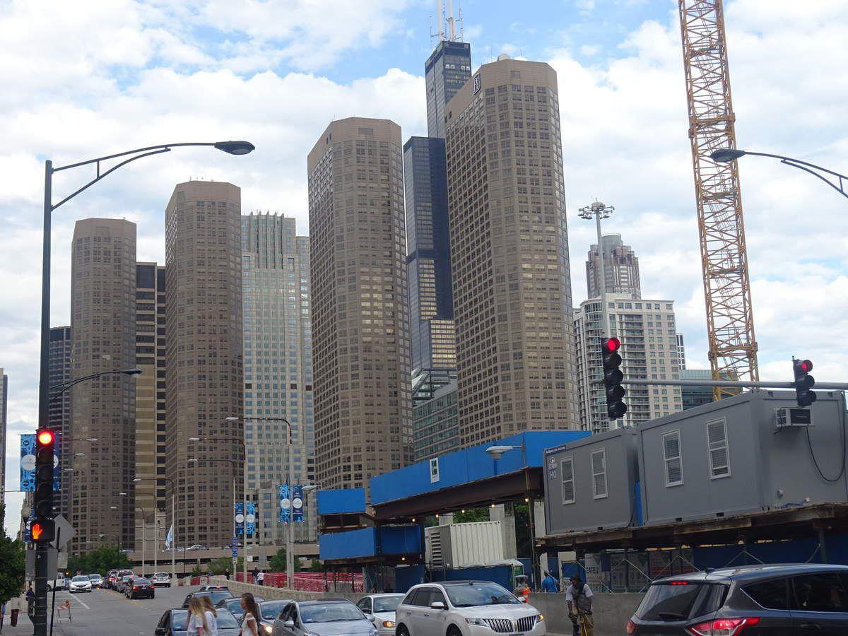 Une vue typique de Chicago