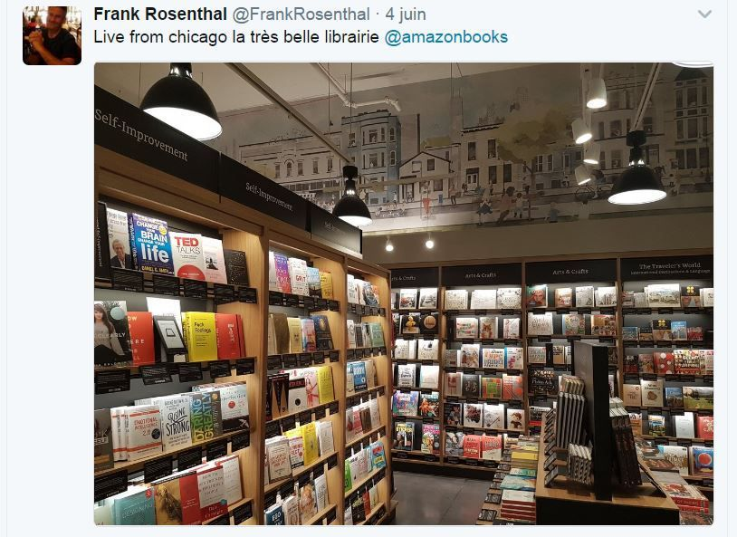 Retail Tweets n°32 : Amazon Books Chicago : visite indispensable