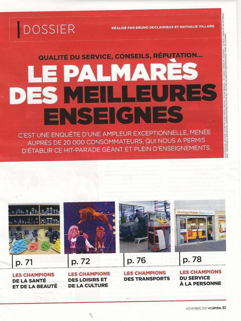 Dans les médias (11) : Capital : le palmarès annuel des enseignes