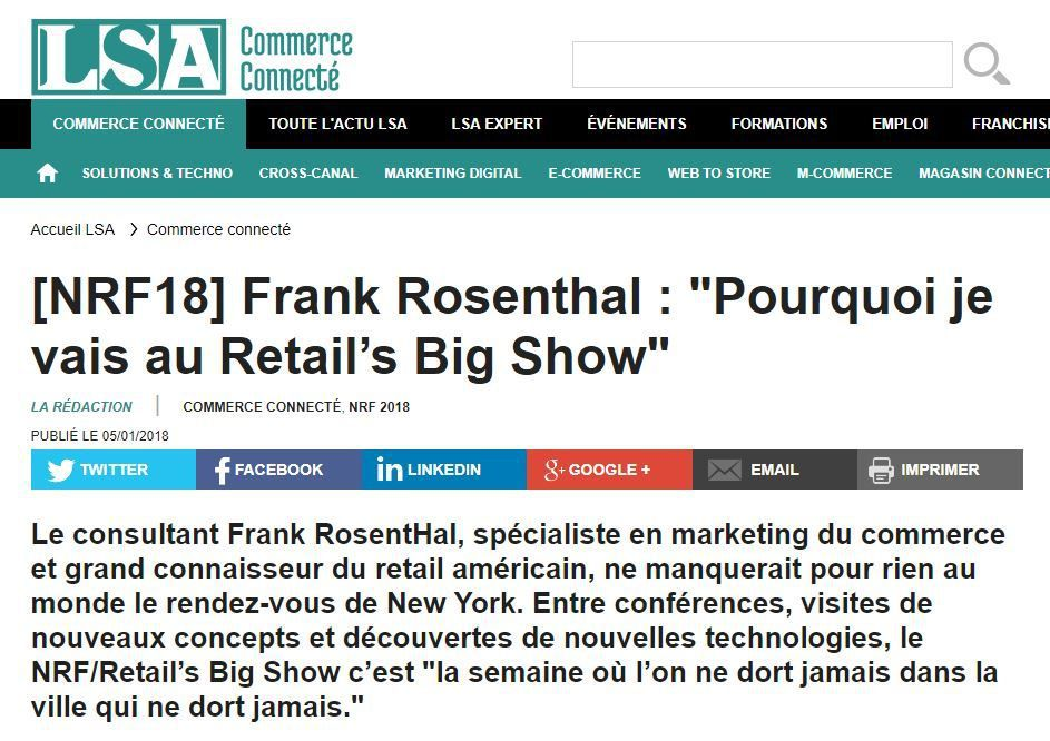 NRF 2018 : pourquoi je vais au Big Retail Show de New York