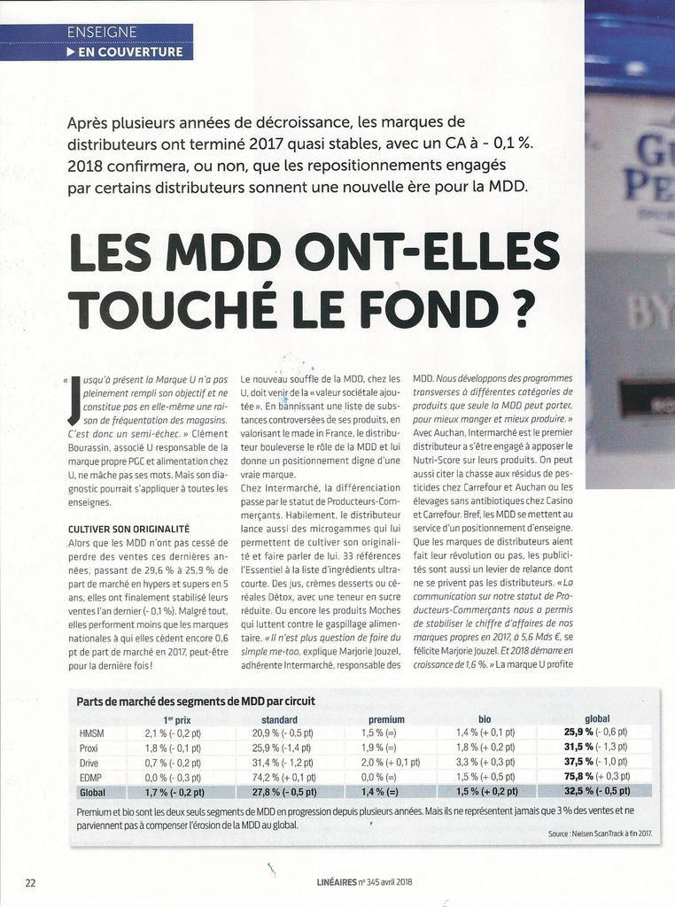 Dans les médias (40) : Linéaires : Les MDD ont-elles touché le fond ?