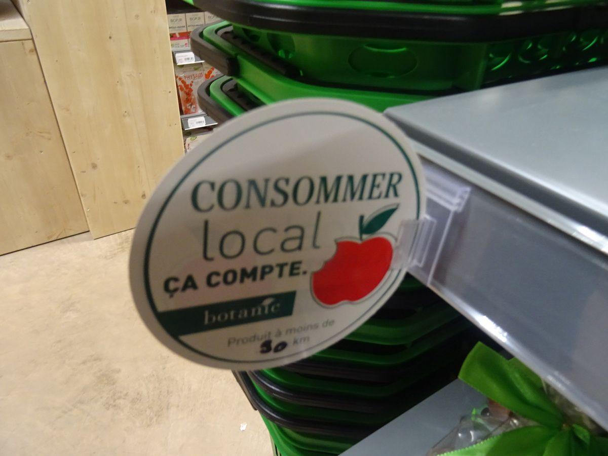 Beaucoup de produits locaux sont disponibles (et relayés) tout au long du parcours client