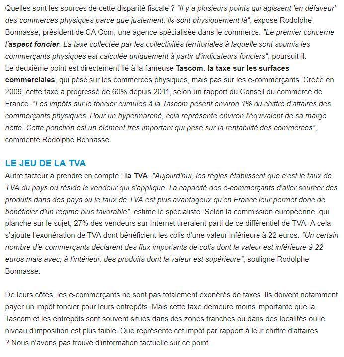 Dans les médias (44) : L'usine Digitale : commerce physique et online : pourquoi l'équité fiscale est un véritable casse-tête