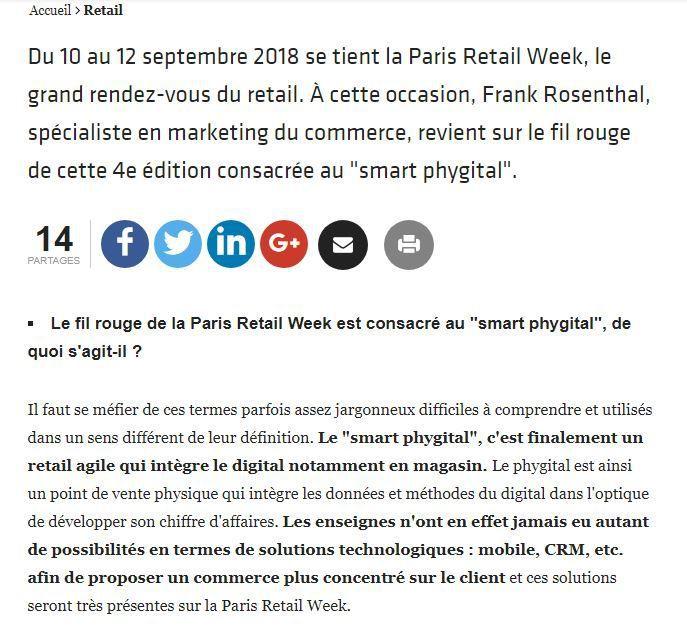 Dans les médias (54) : E-commerce Magazine : Paris Retail Week