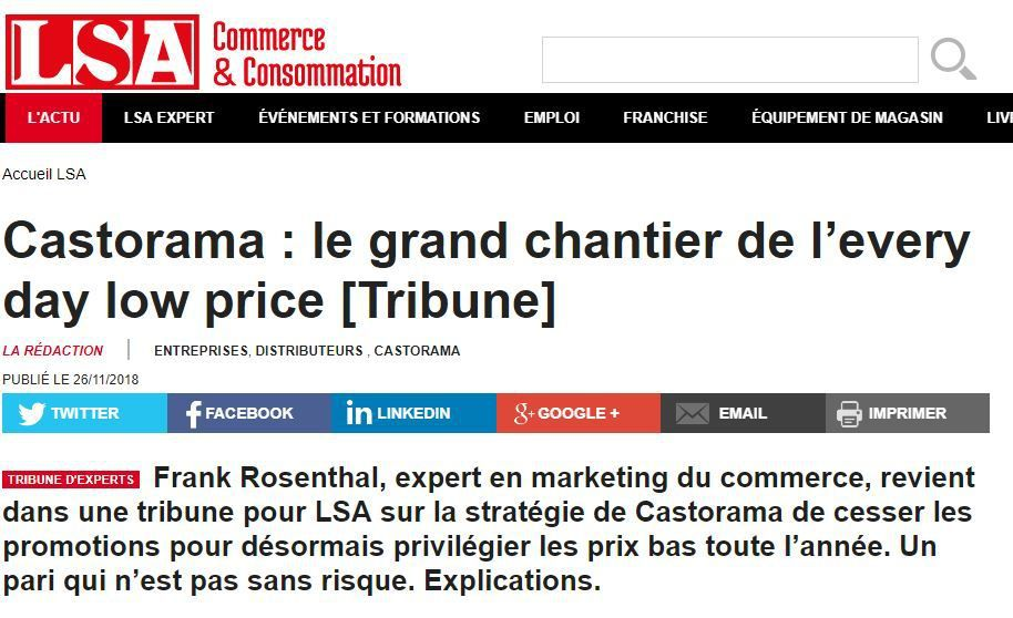 Dans les médias (69) : Tribune LSA : Castorama : le grand chantier de l'every day low price