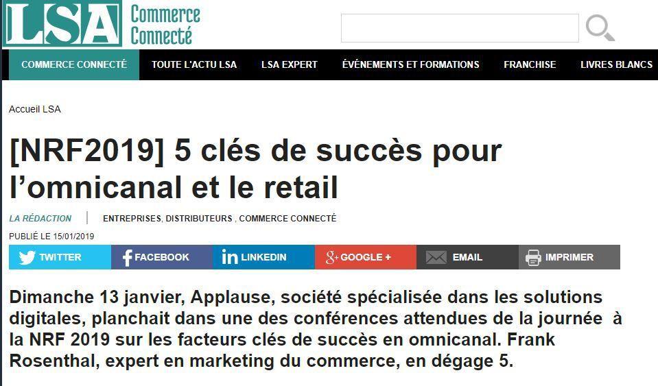 Dans les médias (79) : NRF (1) : LSA : 5 clés de succès pour l'omnicanal et le retail