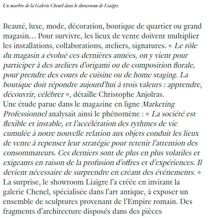 Dans les médias (90) : AD : la nouvelle vie des boutiques