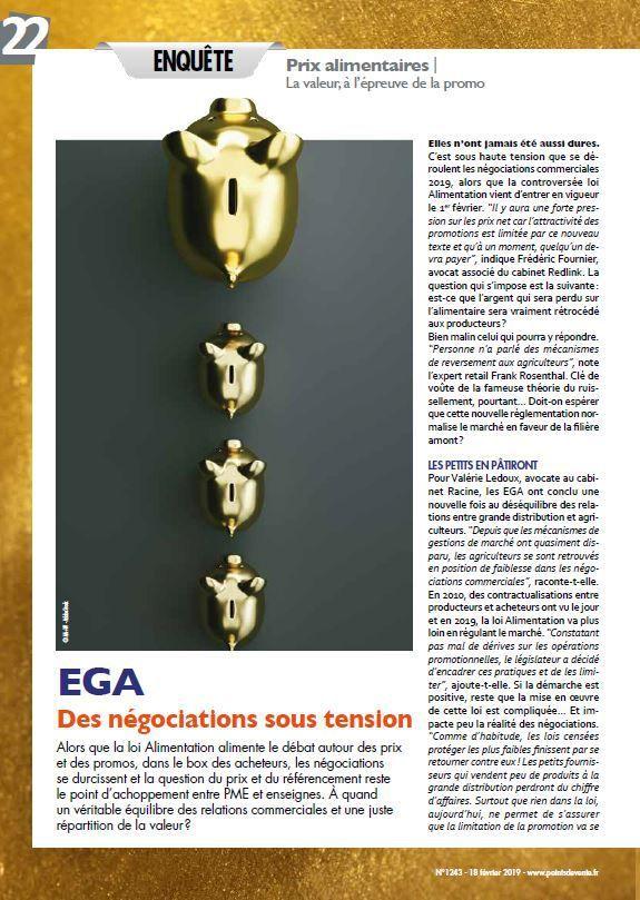 Dans les médias (94) : Points de Vente : EGA : des négociations sous tension