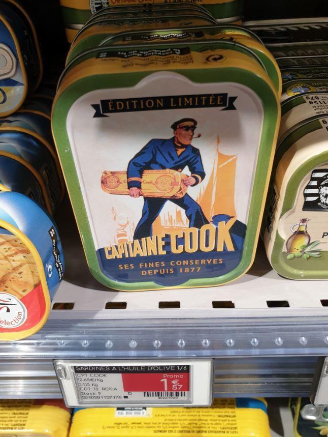 2 des produits de 1969 : le sirop Teisseire et les sardines Capitaine Cook