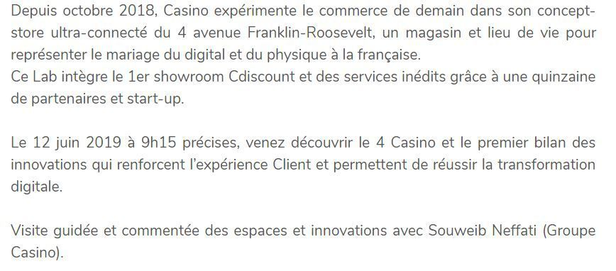 Adetem Club Distribution : visite du 4 Casino