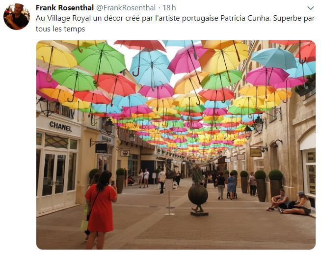 Retail Tweets n°91 : Umbrella Sky au Village Royal Paris