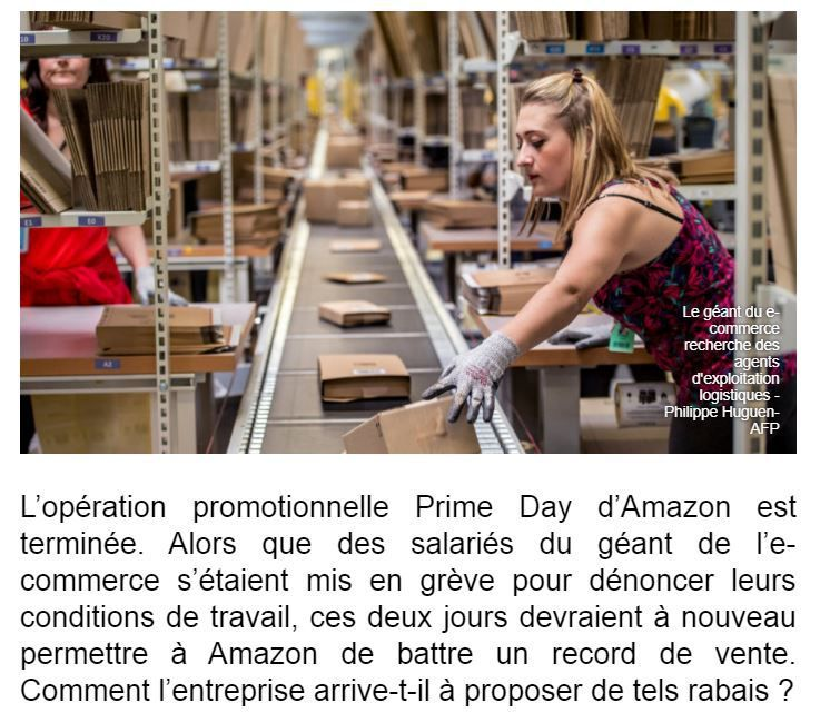 Dans les médias (124) : BFM Business Amazon et son Prime Day 2019