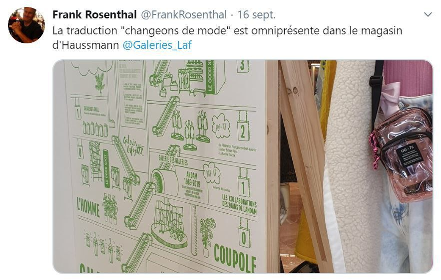 Retail Tweets n°106 : la mode durable aux Galeries Lafayette