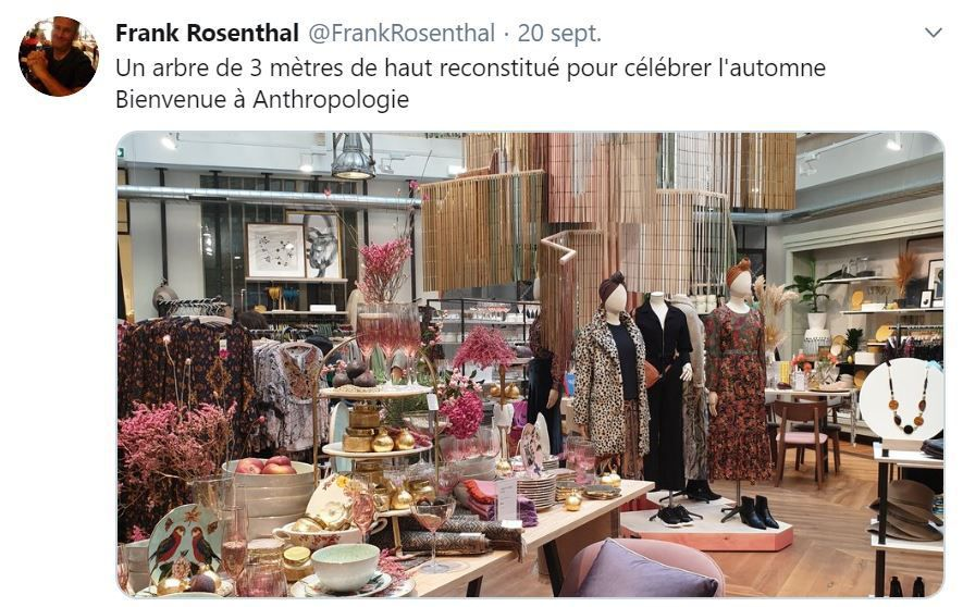 Retail Tweets n°102 : Anthropologie ouvre sur Paris
