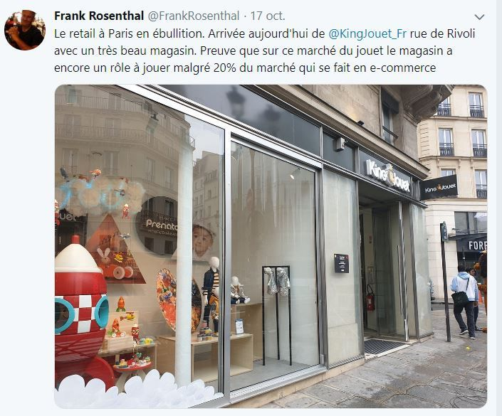 Retail Tweets n°112 : King Jouet arrive sur Paris Rivoli
