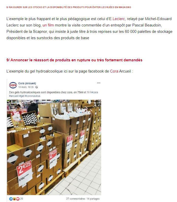 Dans les médias (160) : Tribune LSA : Coronavirus : Décryptage des bonnes initiatives de communication