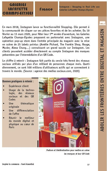 Inspirer le commerce : un exemple de cas : Galeries Lafayette/Instagram