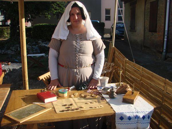 La compagnie Historica Tempus à la fête médiévale du château d'Héricourt