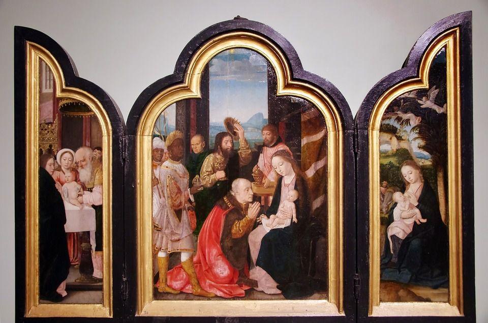 Noël crèche médiéval moyen age