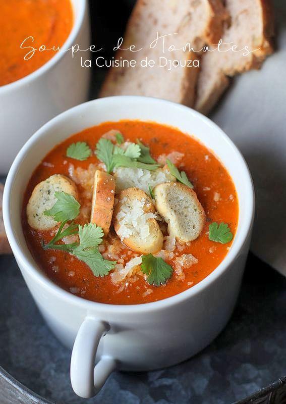 Soupe de tomates veloutée