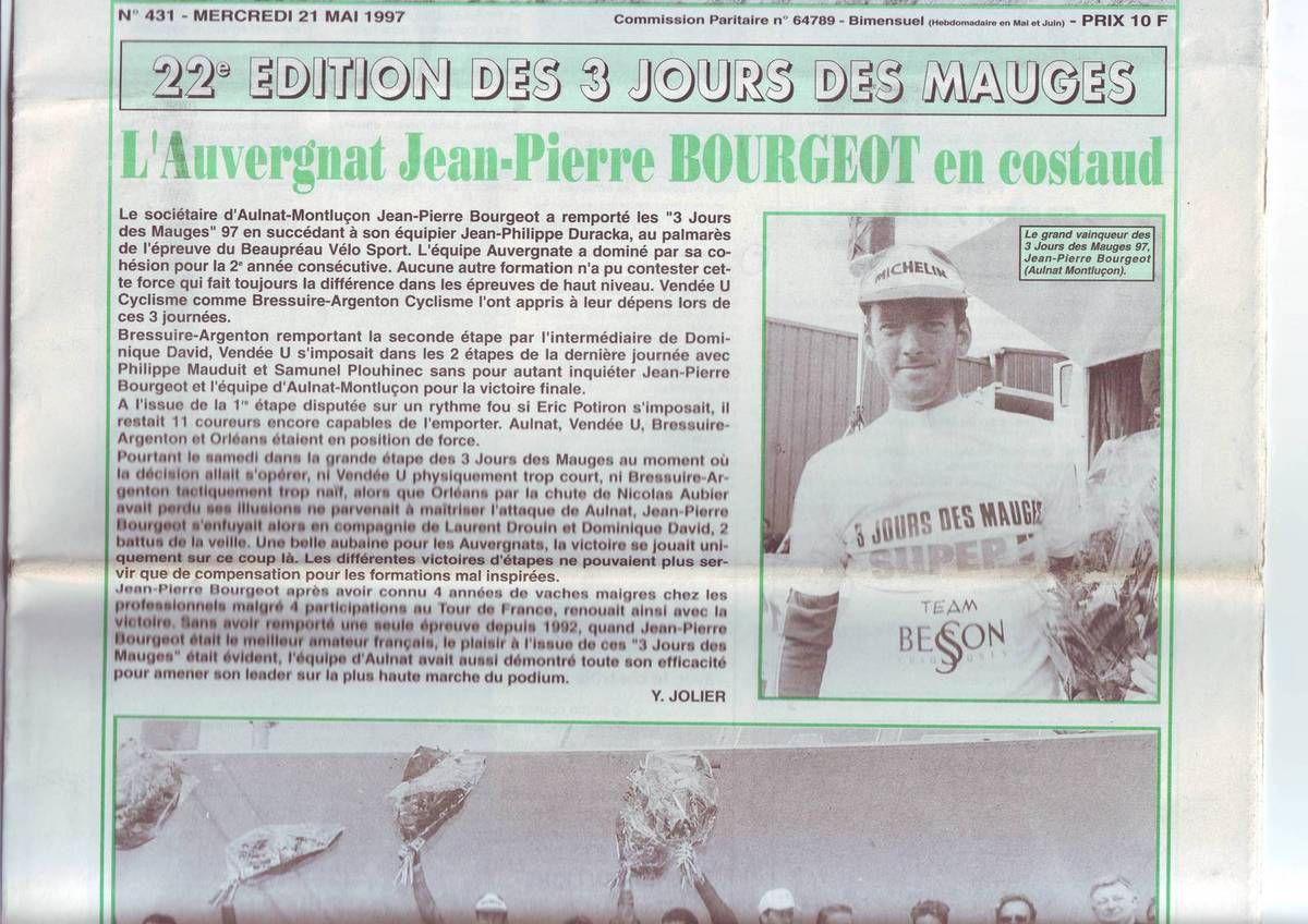 Jean-Pierre Bourgeot, vainqueur en 1997