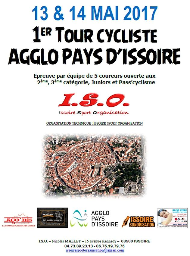 Ce week-end, Tour de l' Agglo du Pays d'Issoire