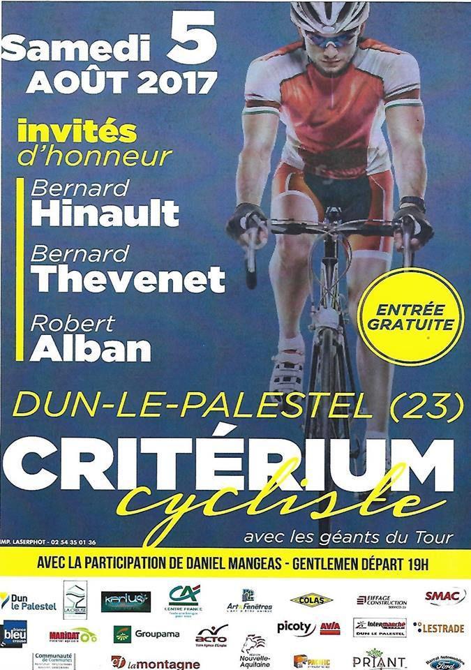 Samedi, Critérium de Dun-le-Palestel