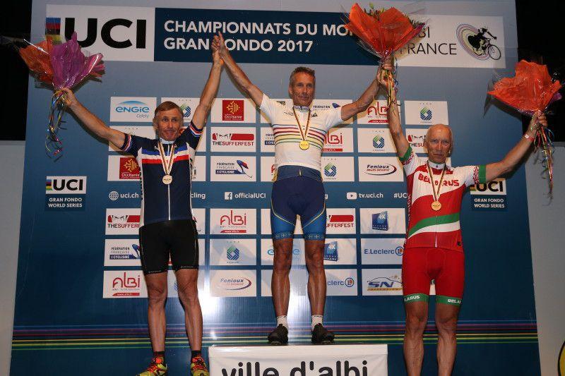 Le podium des 60/64 ans  (Photo FFC Patrick Pichon)
