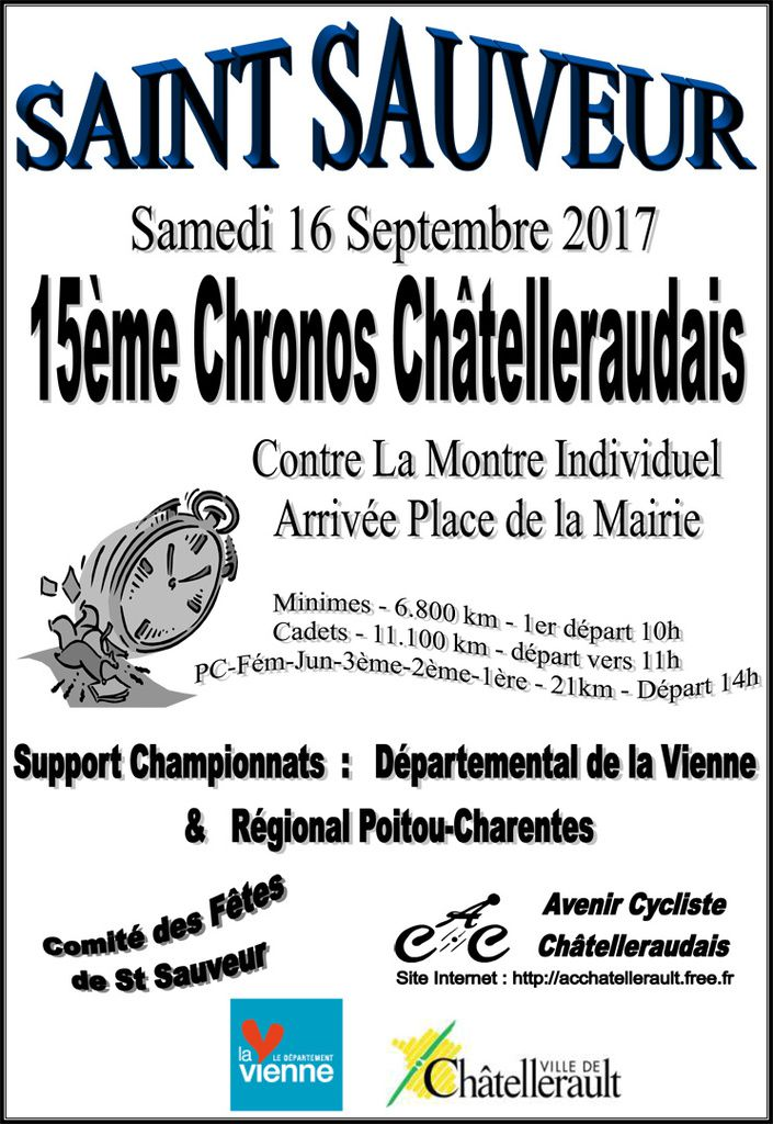 Antoine Prunet meilleur junior du Chrono Châtelleraudais