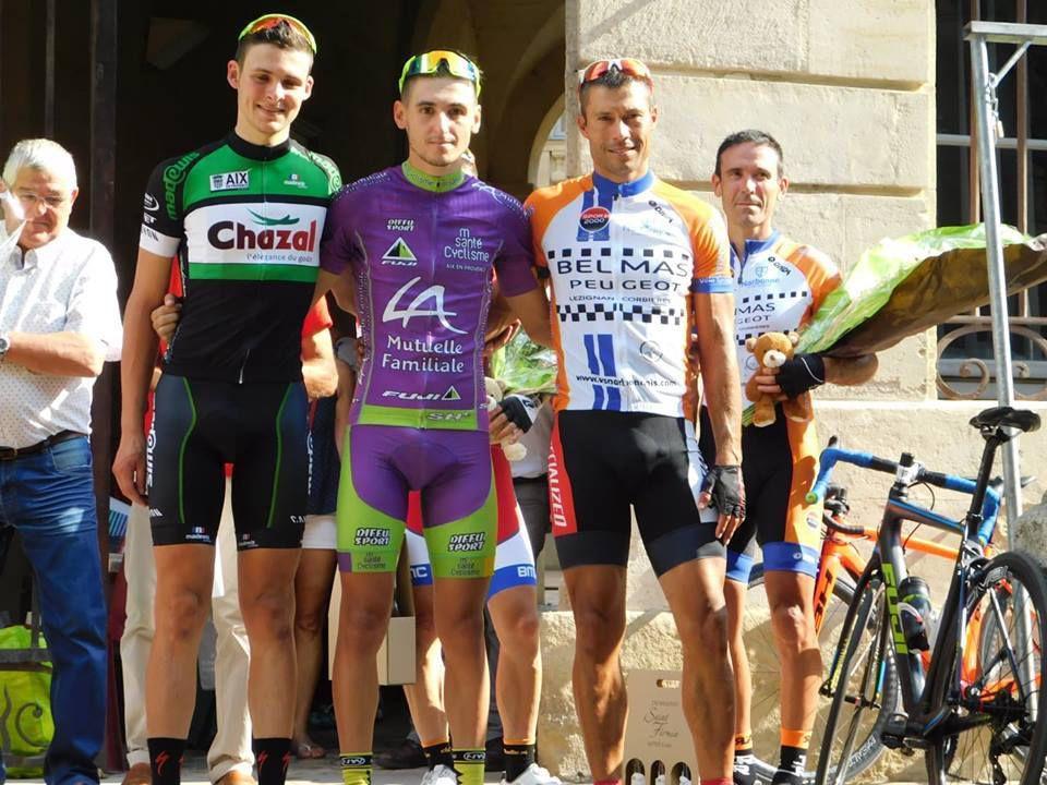 Le podium  (Source M. Santé Cyclisme)