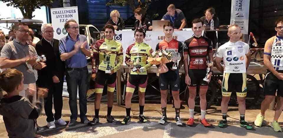 Le podium (photo VC Rodez)