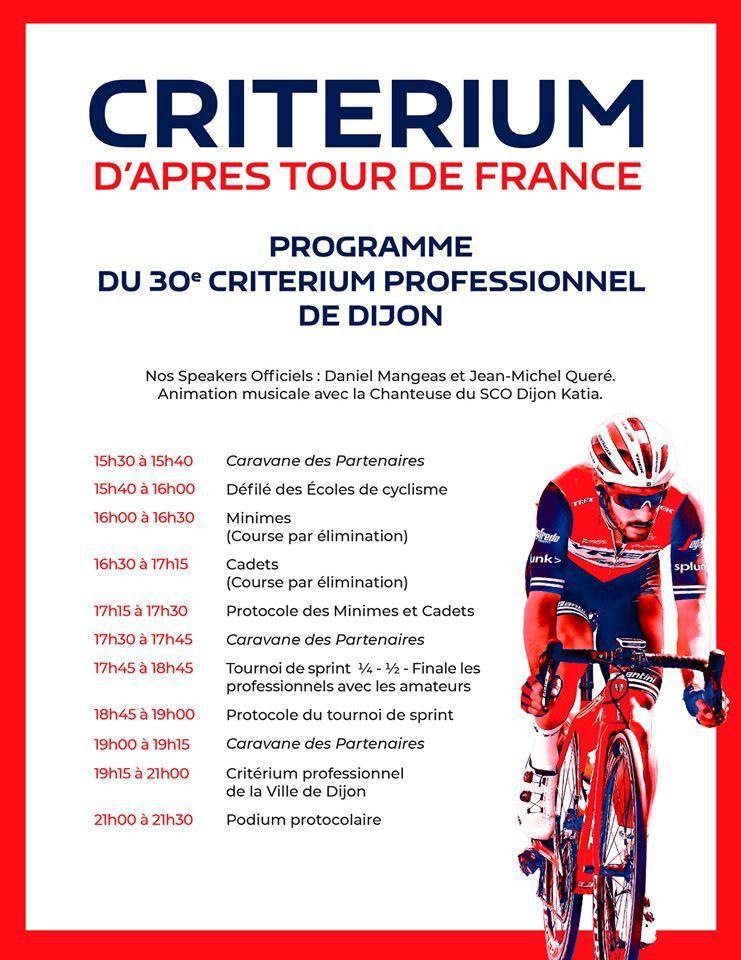 Le plateau du critérium de Dijon est dévoilé