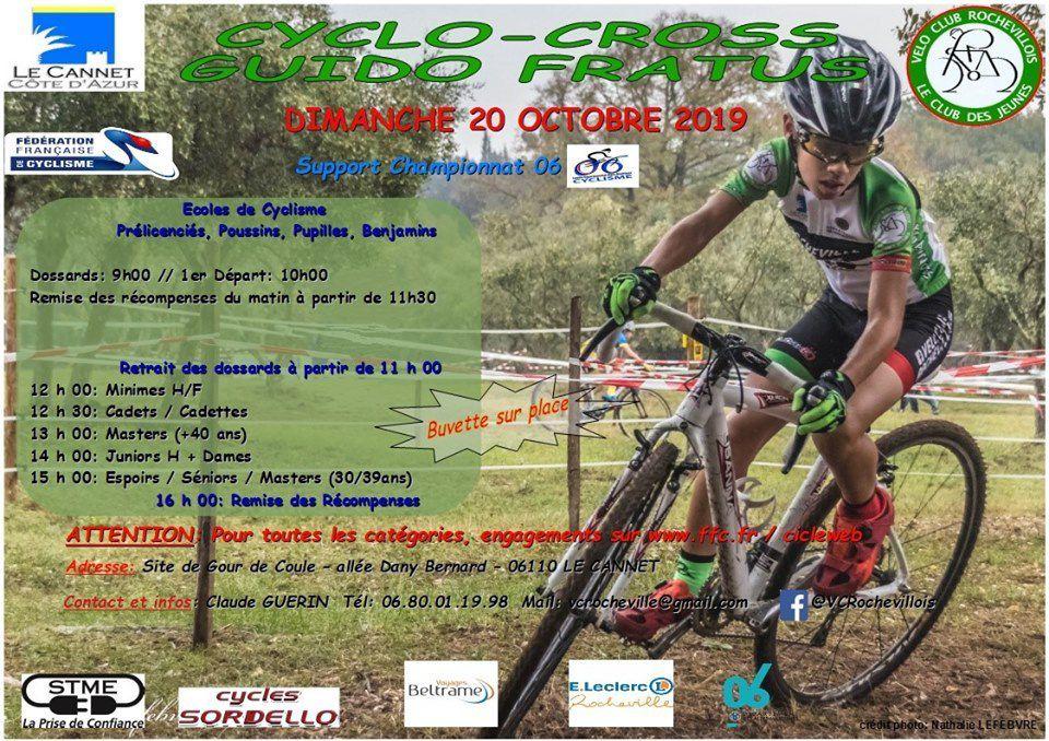 """Dimanche, cyclo-cross du Cannet """"Guido Fratus"""""""