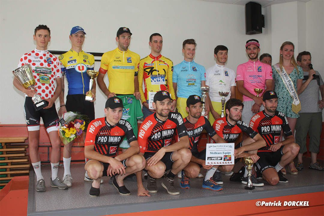 Le podium 2019  (photo Patrick Dorkel As du Cyclisme)