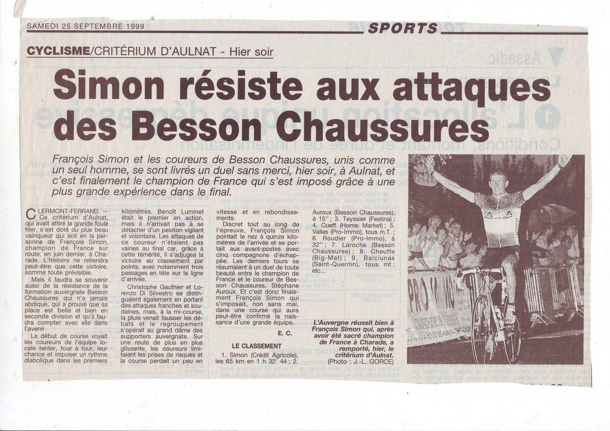 Il y a 20 ans ...Critérium d'Aulnat
