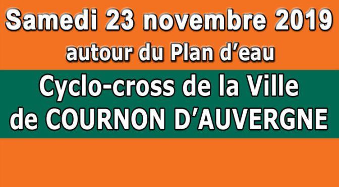 Le cyclo-cross de Cournon ... c'est samedi