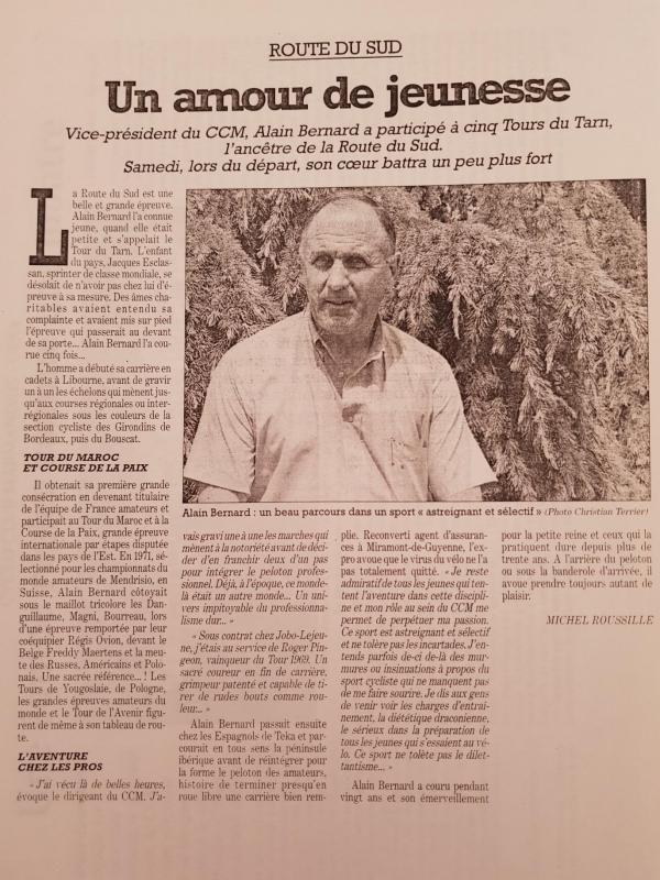 Décès d'Alain Bernard