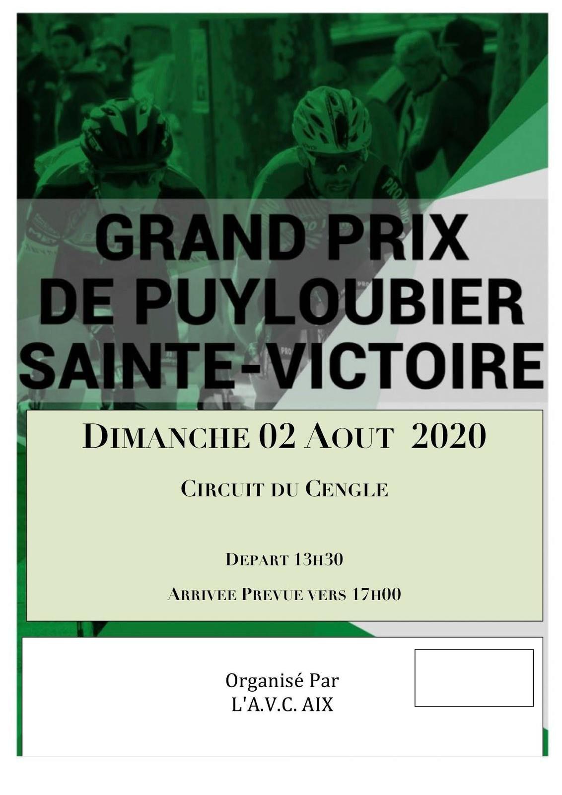 Dimanche, Grand Prix de Puyloubier Sainte-Victoire