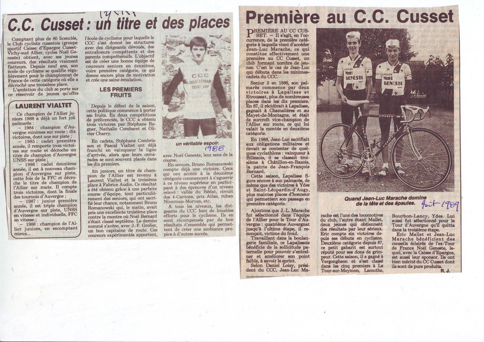 L'acte de naissance de l'Avenir Cycliste Cusset
