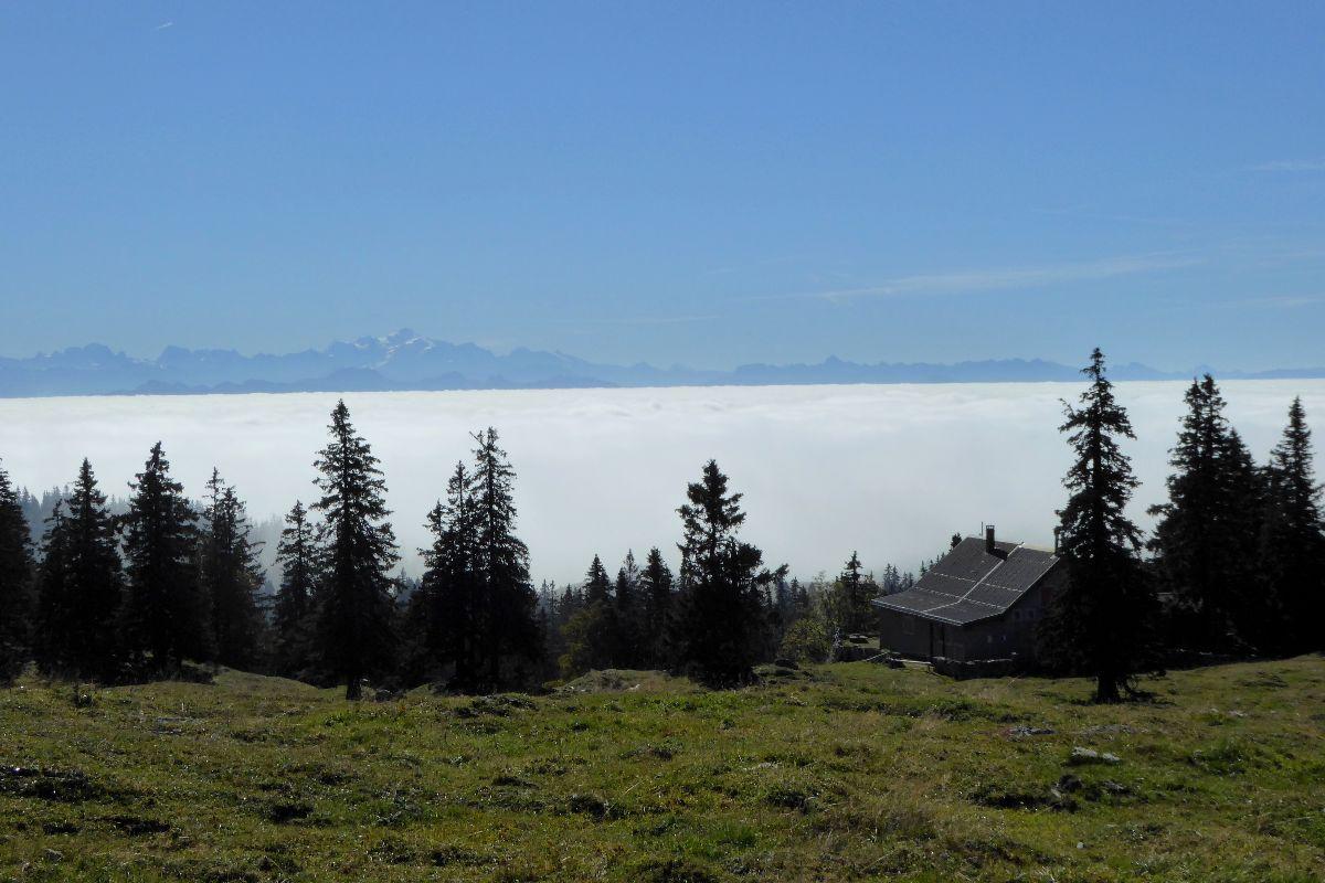 Les Alpes émmergent du brouillard