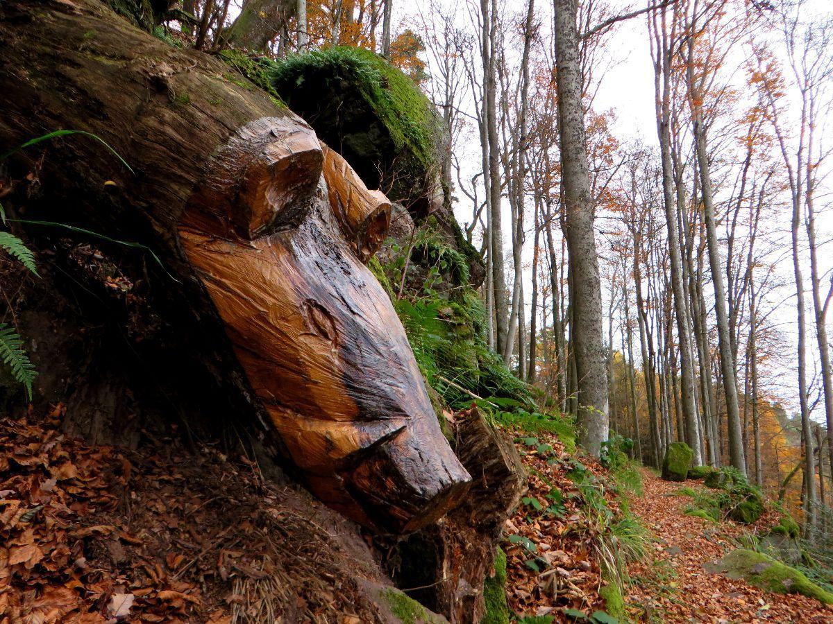 Une nouvelle sculpture sur le sentier des merveilles