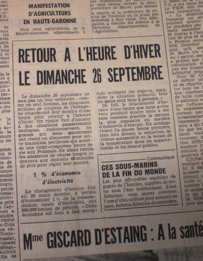 La Nouvelle République, Septembre 1976.